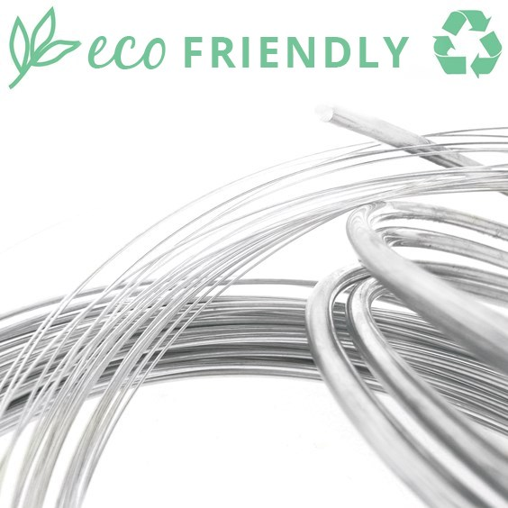 Eco-Friendly Recycled Sterling Silver Round Wire