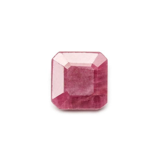 Ruby 9.5mm Square Flat Faceted Stone