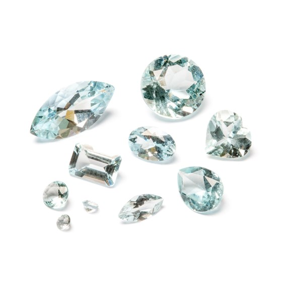 Aquamarine A Quality Faceted Stones