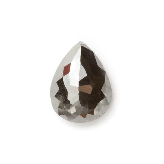 Black Diamond Rose Cut Teardrop Cabochon, Approx 7.8x5.8mm