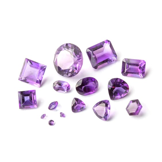 Amethyst Faceted Stones