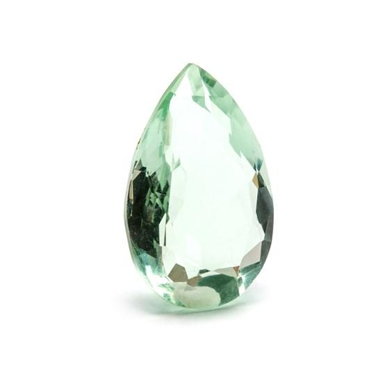 Green Fluorite 23.5x15mm Faceted Teardrop Stone