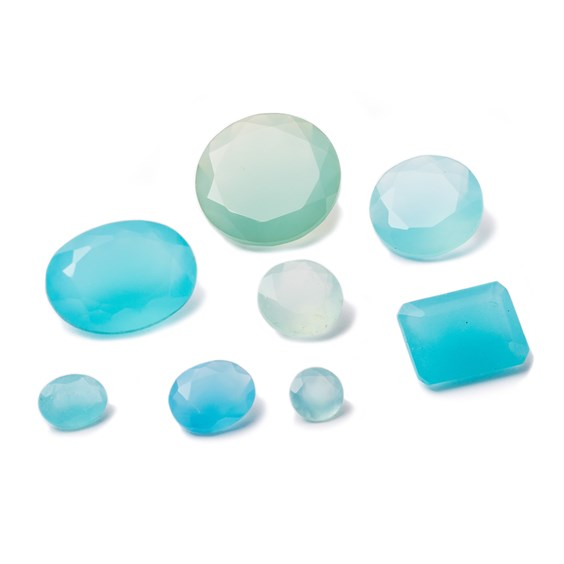 Blue Chalcedony Faceted Stones