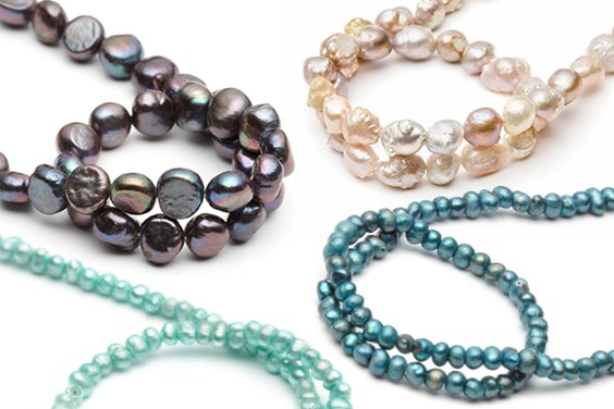 gemstone pearl beads