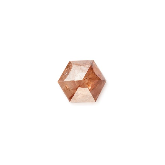 Bronze Diamond Rose Cut Hexagon Cabochon, Approx 3.5mm
