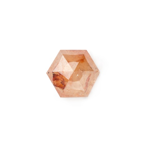 Bronze Diamond Rose Cut Hexagon Cabochon, Approx 4.25mm