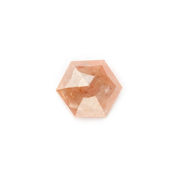 Bronze Diamond Rose Cut Hexagon Cabochon, Approx 3.75mm