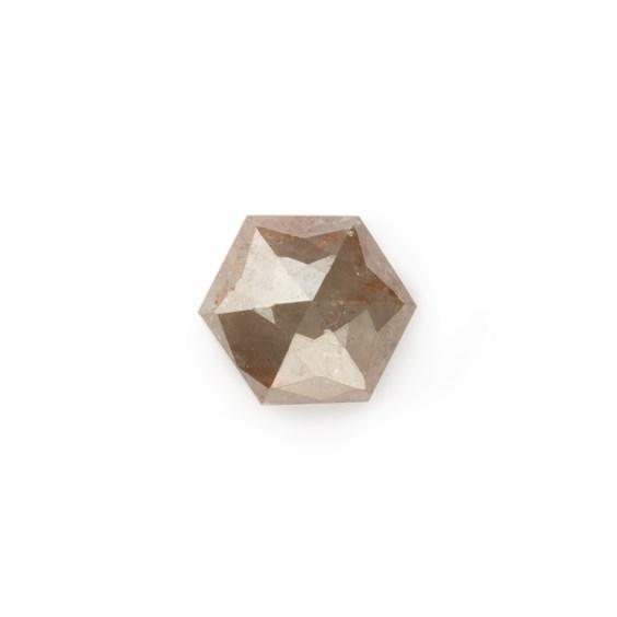 Bronze Diamond Rose Cut Hexagon Cabochon