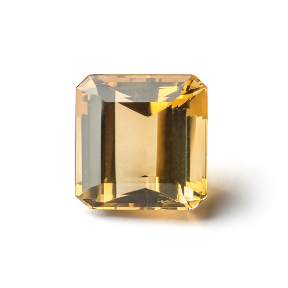 Citrine 18x17.5mm Octagon Faceted Stone