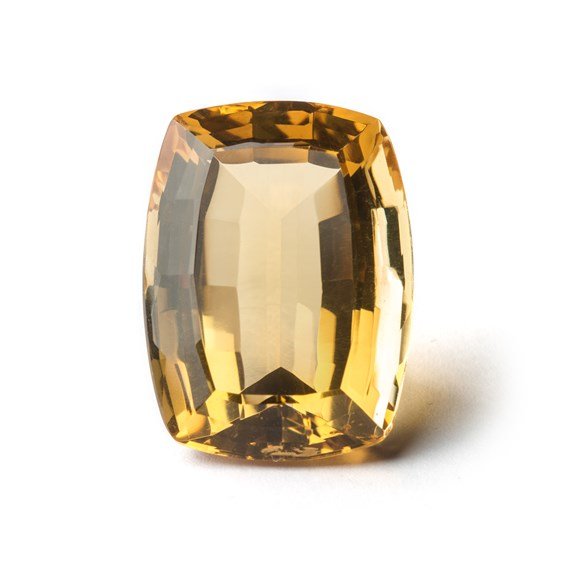 Citrine 29x21mm Cushion Cut Faceted Stone