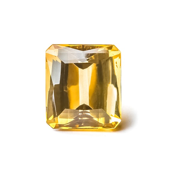 Citrine 21x19mm Octagon Faceted Stone