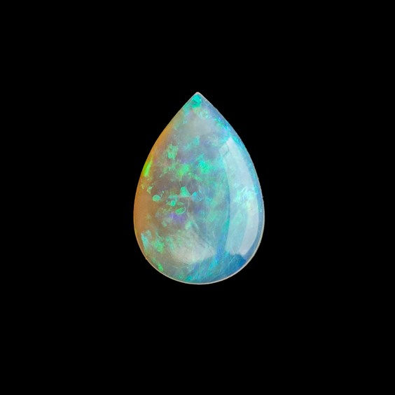 Solid Opal Teardrop Cabochon, Approx 10x7mm