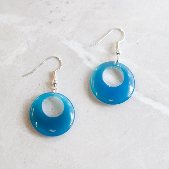 Blue Agate Agogo Earrings
