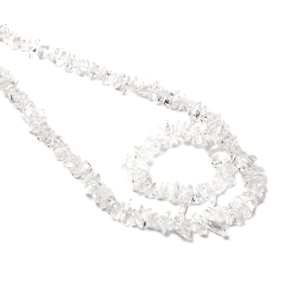 Crystal Quartz Chip Beads