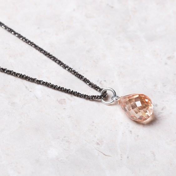 cubic zirconia briolette beads