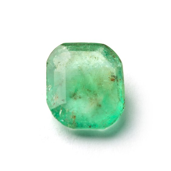 Emerald 12x10mm Octagon Faceted Stone