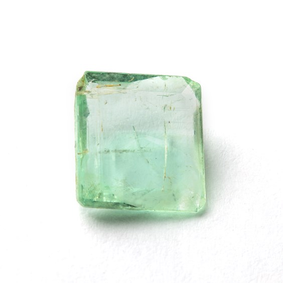 Emerald 11x10mm Octagon Faceted Stone