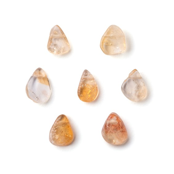 Citrine Head Drilled Slice Beads, Approx 8x10mm