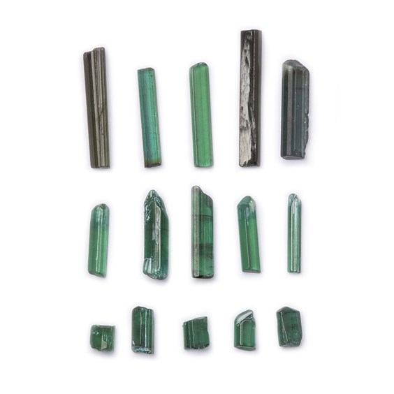 Rough Green Tourmaline Natural Crystals (Undrilled)