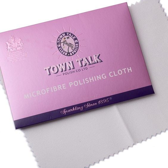 Town Talk Miraculous Microfibre Jewellery Cleaning Cloths, Approx 17.5x12.5cm