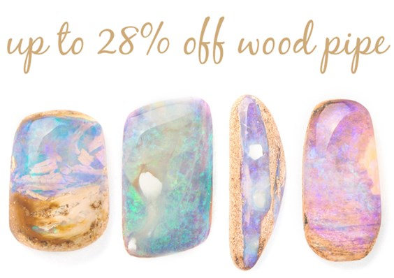 wood pipe opal sale