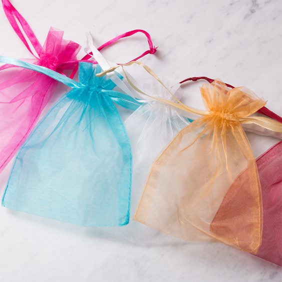 Organza Gift Bags, Pack of 6