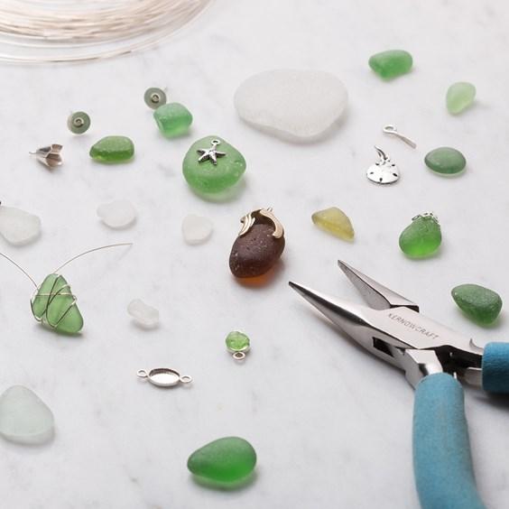sea glass jewellery making