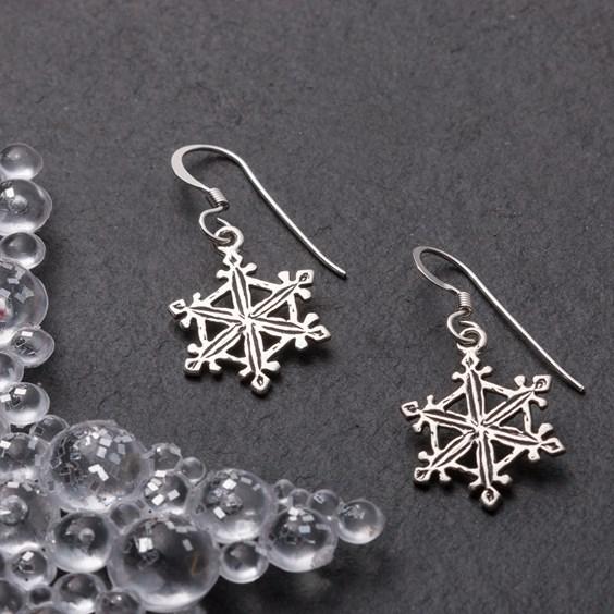 Snowflake Charm Earrings