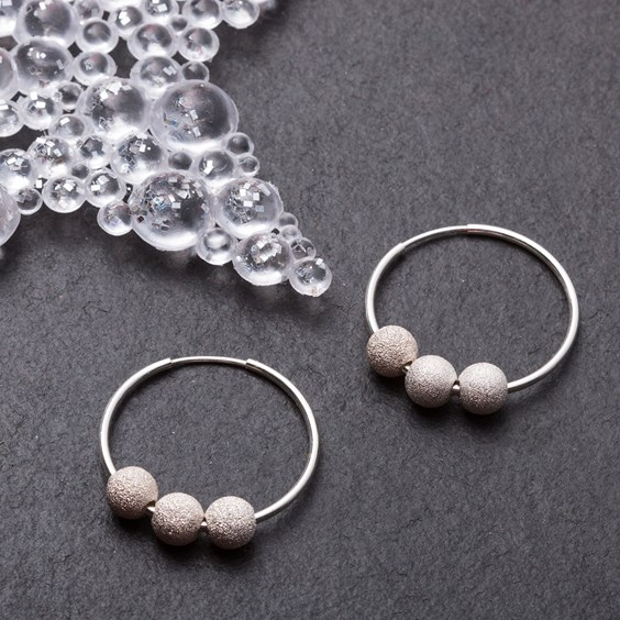 Triple Stardust Hoops