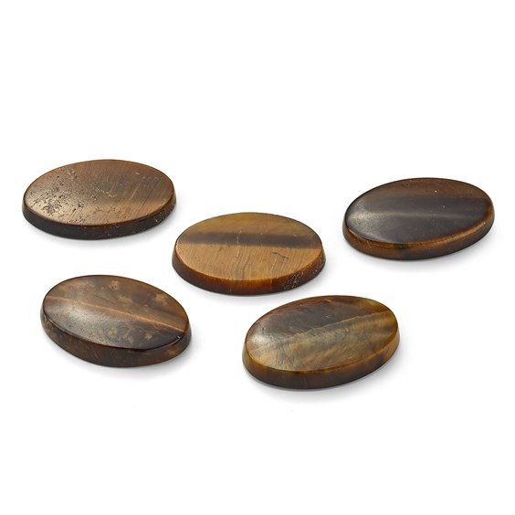 Golden Tiger's Eye Flat Plate Oval Cabochons