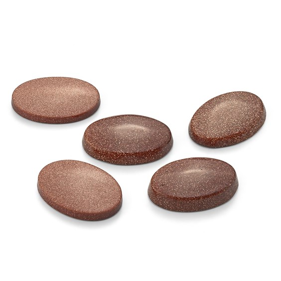 Goldstone Flat Plate Oval Cabochons