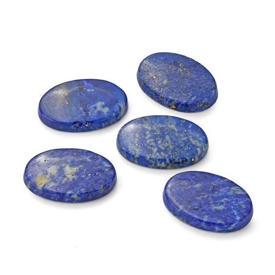 Lapis Lazuli Flat Plate Oval Cabochons