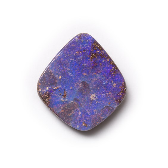 Australian Free Form Boulder Opal, Approx 17.5x16mm