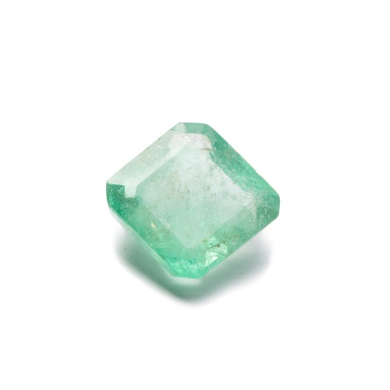 Emerald 10x9.5mm Rectangle Faceted Stone