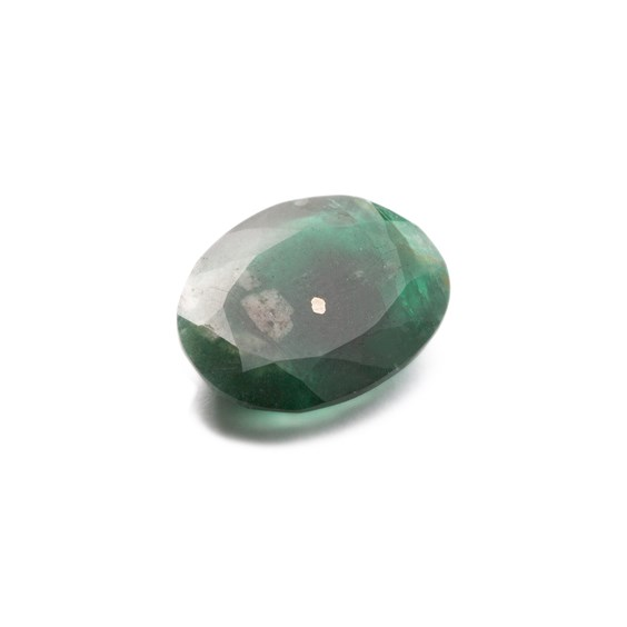 Emerald 17x12mm Oval Faceted Stone