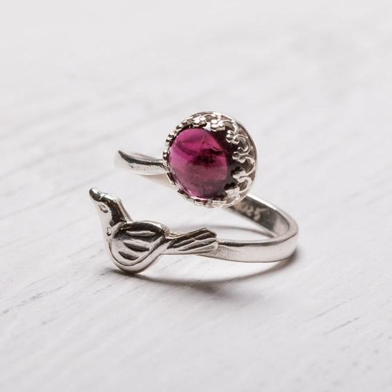 Garnet Bird Ring