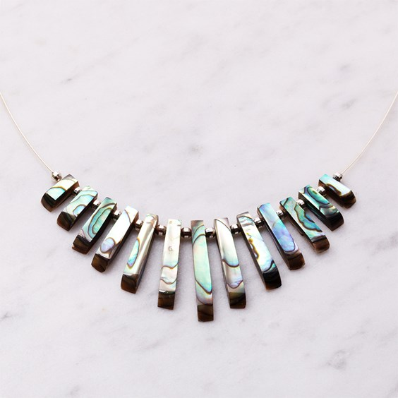 Paua Shell Tapered Necklace
