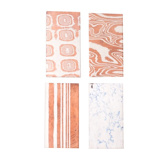 Assorted Specialist Metal Pack of Mokume Gane and Crinkle Sheet