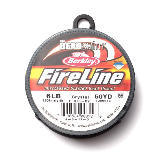 Fireline Braided Bead Thread, 0.2mm Crystal Clear
