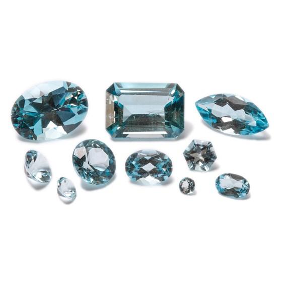 Sky Blue Topaz Faceted Stones