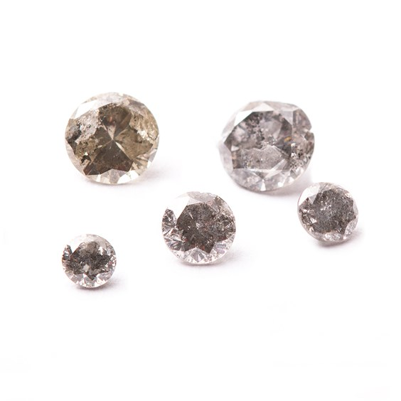 Salt And Pepper Diamond Faceted Stones