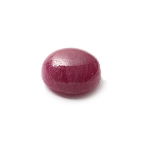 Ruby Cabochon, Approx 10x9mm Oval Shaped Stone
