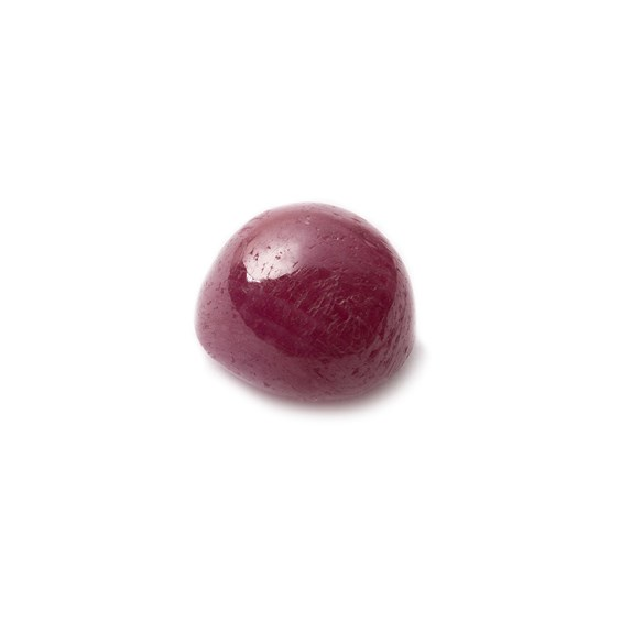 Ruby Cabochon, Approx 9.5x9mm Oval Shaped Stone