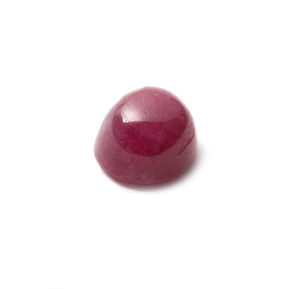 Ruby Cabochon, Approx 11x9.5mm Oval Shaped Stone