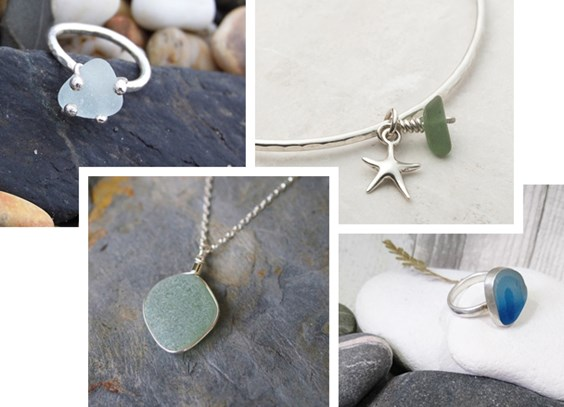 sea glass jewellery designs