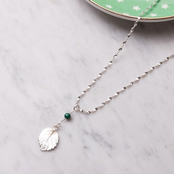 Leaf & Malachite Necklace