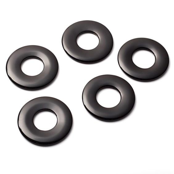 Black Onyx Gemstone 40mm Donut