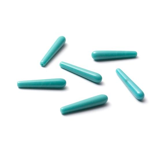 Turquoise Howlite Top Drilled Teardrop Gemstone Bead