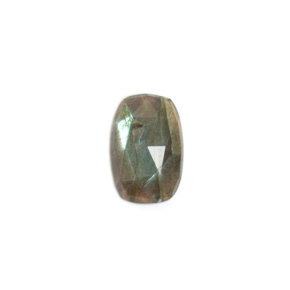 Labradorite Rose Cut Cushion Cabochon, Approx 20x13mm