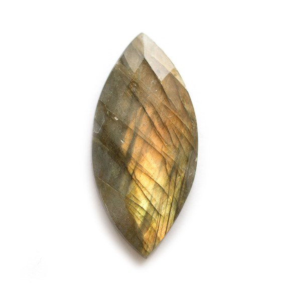 Labradorite Rose Cut Marquise Cabochon, Approx 40x19mm